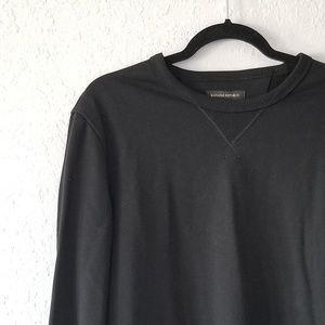 Banana Republic Black Terry Sweatshirt Medium NWT